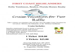 Flyer - cruise vacation raffle